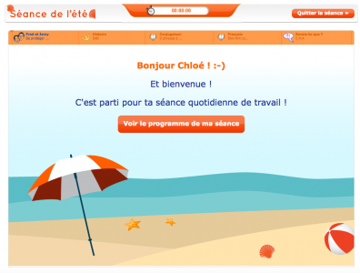 Séance Ete, Maxicours.com